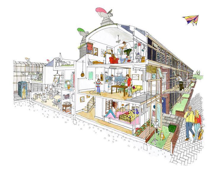 Emma Kelly - Architectural illustration - Handsome Frank Illustration Agency