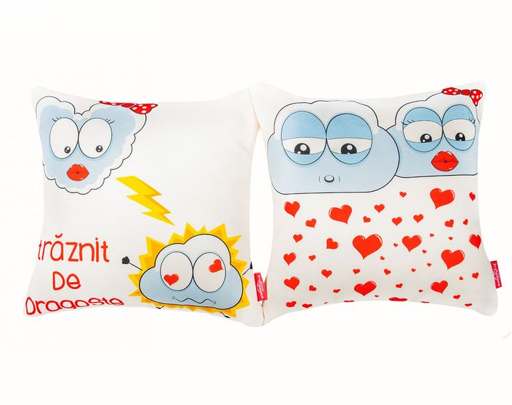 """""""Traznit de dragoste"""" Pair-Pillows #dragobete #love #boy #girl #home #cosy #comfort #cute #characters #valentines #valentinesday #gift #couple #interiordeco #design"""