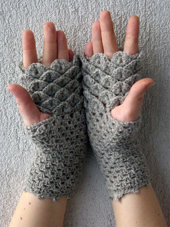 Fingerless gloves handmade mittens hand knitted gloves ...