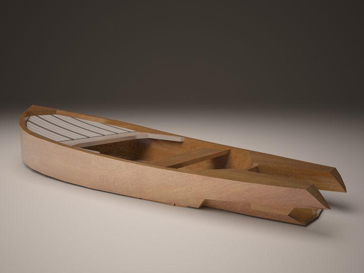 boat design 3d render
