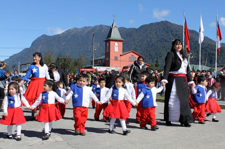 This is a parade celebrating the Fiestas Patrias, Chile's Independence Day.