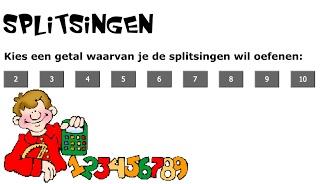 Splitsingen tot 10, online spelletje met puzzelstukken