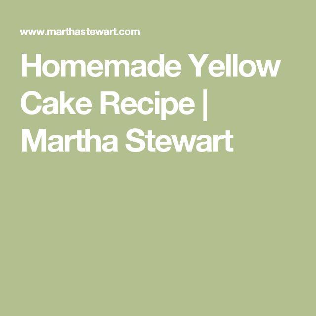 Homemade Yellow Cake Recipe   Martha Stewart