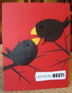 CAS156 Heart and Crows by ruby-heartedmom - Cards and Paper Crafts at Splitcoaststampers