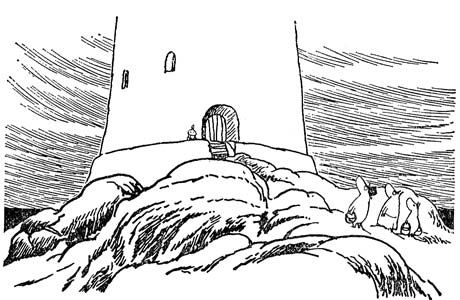 Illustration by Tove Jansson, from Moominpapa at Sea