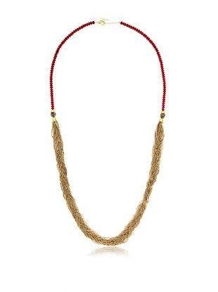 60% OFF Helene Tibetan Coral and Lapis Braided Necklace
