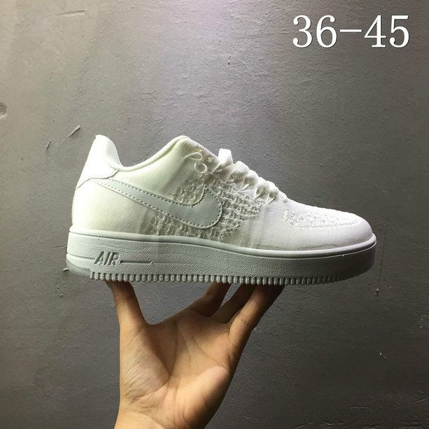 Nike air force 1 AF1 Flyknit low All White 820256 101