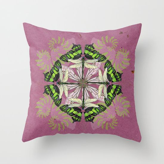 Insect mandala pillow on Society6 - also available as an art print!