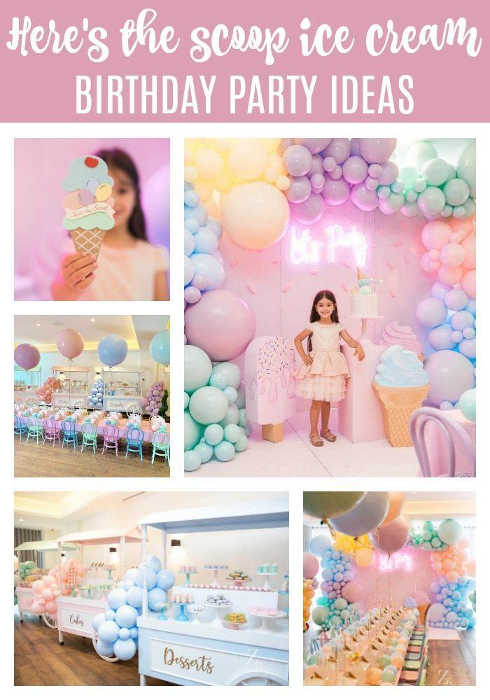 Pretty Pastel Ice Cream Birthday Party Pretty My Party Party Ideas In 2020 Ice Cream Birthday Party Pastel Birthday Ice Cream Birthday
