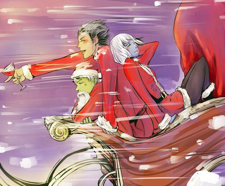 A very warlock Christmas! Ragnor Fell, Catarina Loss and Magnus Bane, The Bane Chronicles