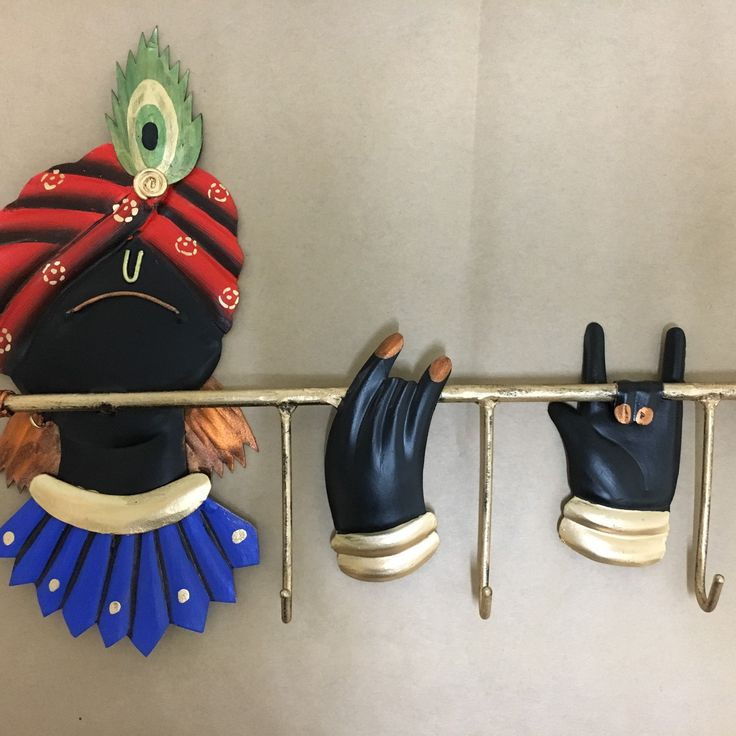 Crafted and painted time to pack and dispatch. Krishna key hanger