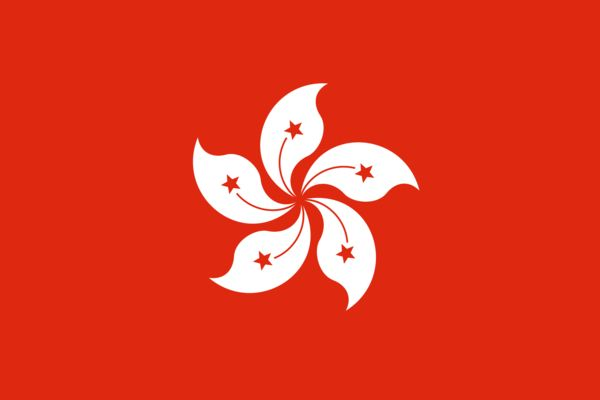 Hong Kong Country Flag
