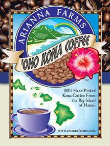 Kona Coffee best in the world! Kona Farms 'Ono Kona Coffee