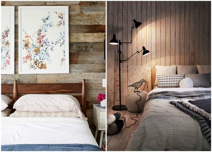 Оформление стены в спальне ламинатом #interior #мебель #дизайн #интерьер #дом #уют #декор