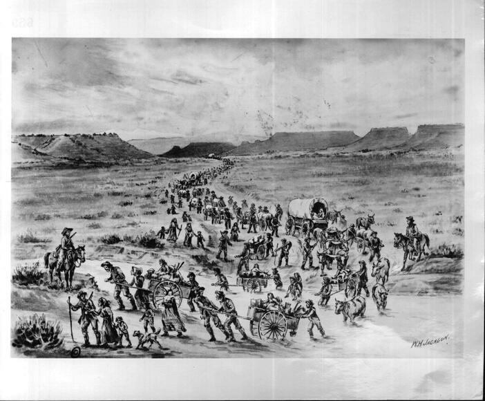Why did the Mormons move to Salt Lake?
