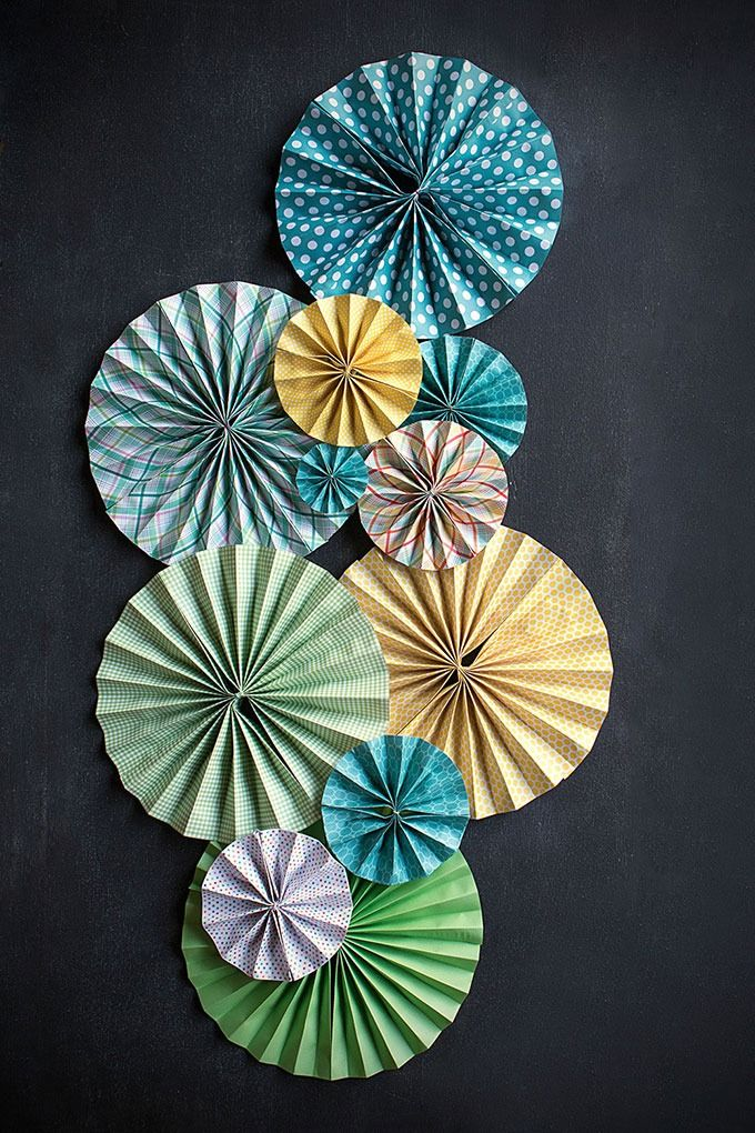 DIY Paper Fans for super easy wedding decor.
