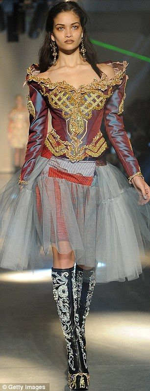 A model walks the runway during the Vivienne Westwood Ready-To-Wear Fall/Winter 2012