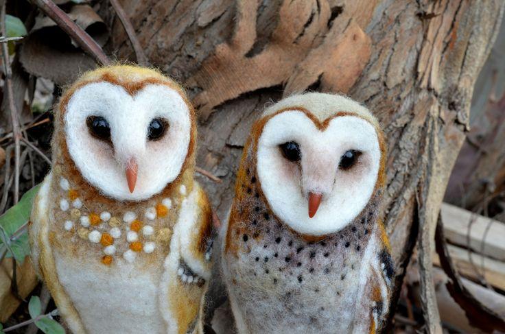Needle felted Barn Owl.