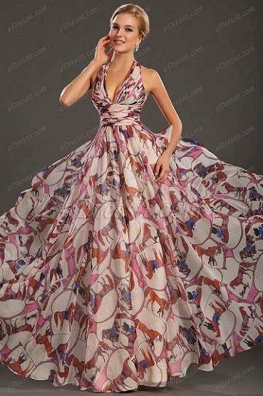 4e6e5b019 Mujer  Moda y Arte  Vestidos Estampados de Fiesta 2015
