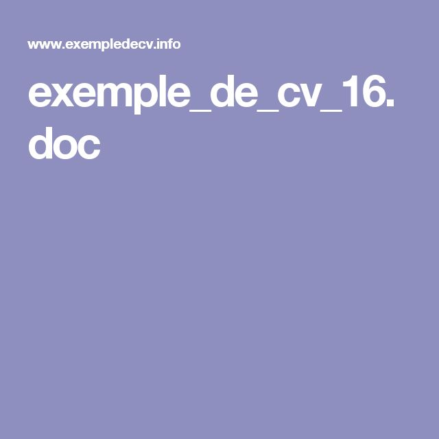 17 best ideas about exemple cv on pinterest