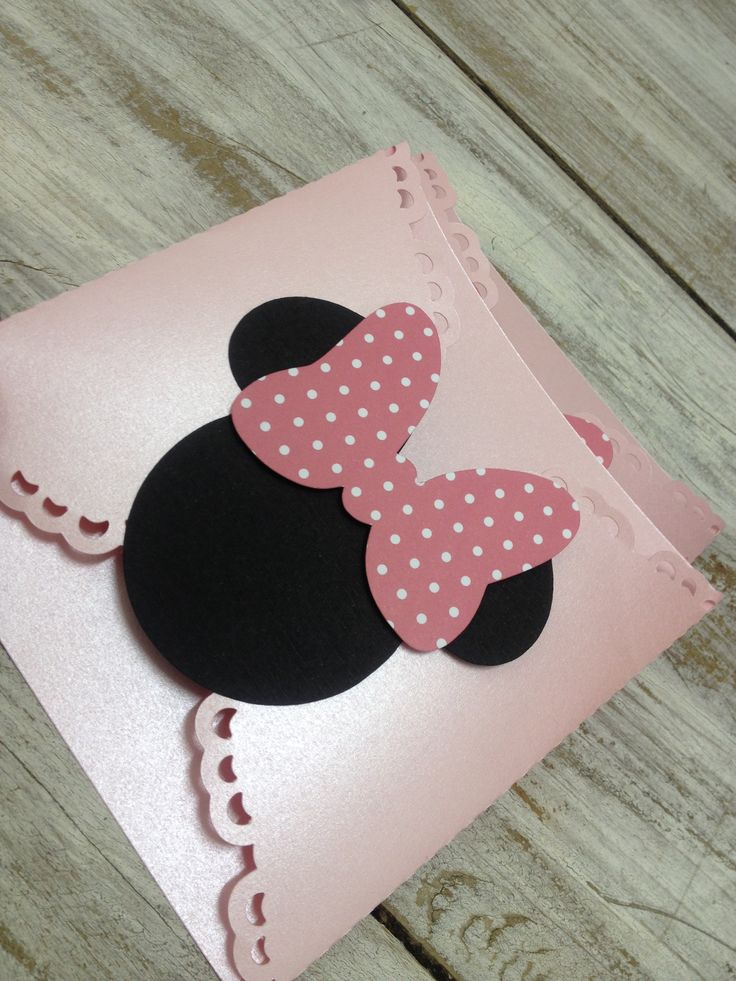 Convite Minnie Rosa
