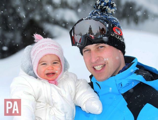 Official photos of the Cambridge Family enjoying a short ski break in the French Alps, released 7 March 2016