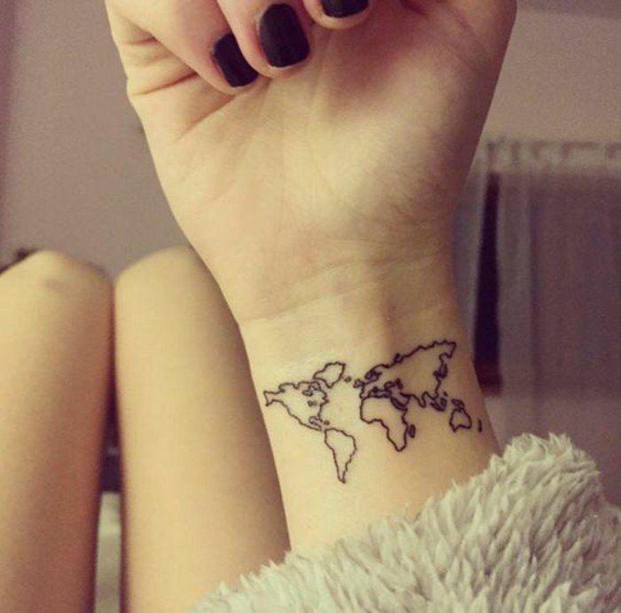 les 25 meilleures id es concernant tatouage carte du monde sur pinterest tatouage monde. Black Bedroom Furniture Sets. Home Design Ideas