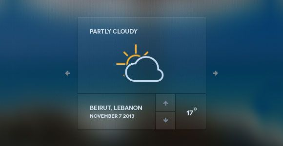 PSD Freebie: Web Weather Forecast Widget PSD