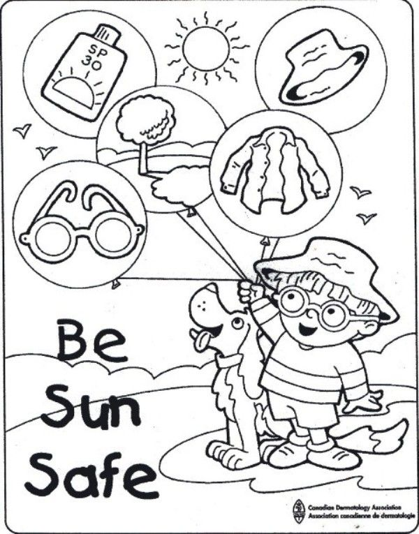 sunsmart coloring pages - photo#4