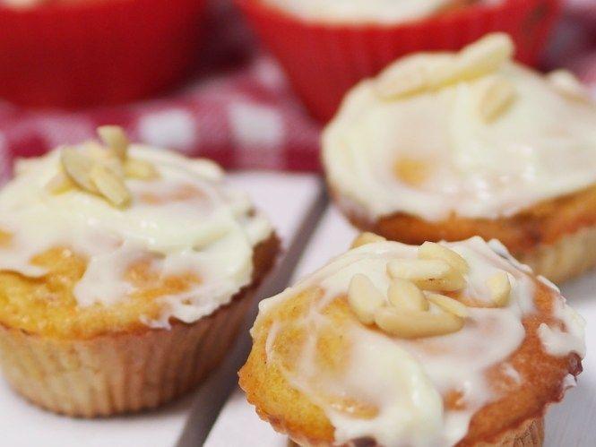 Carrot Muffins ohne Zucker mit Frosting