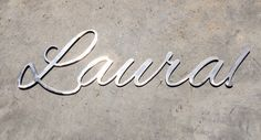 Custom Personalized Family Name Sign Metal Name by BluefishMill