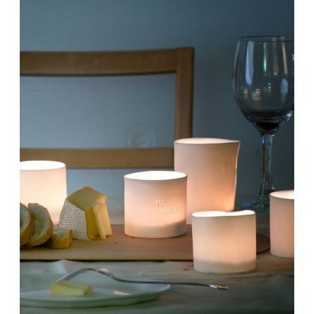 Gifts :: Translucent Porcelain Lantern with Text by Atelier Make $34