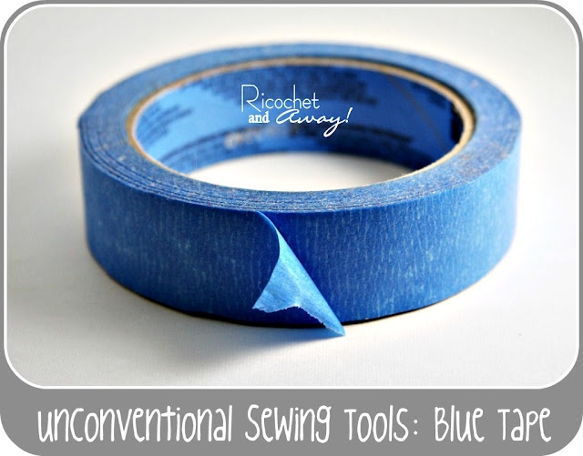 Great idea!  Use painters tape for holding seams etc when sewing.  It doesn't live a sticky residue when you remove it.