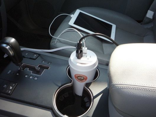 Power Cup USB & AC Car Charger by Original Power. Kind of brilliant. Not for use with coffee. | Open Sky