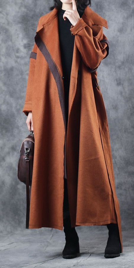 7e3dfc8b317 Winter Camel Loose Woolen Overcoat For Women C3017 | Womens style in ...