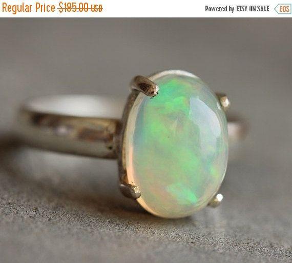 Ethiopian opal ring  Natural Opal Ring  Gemstone by Studio1980