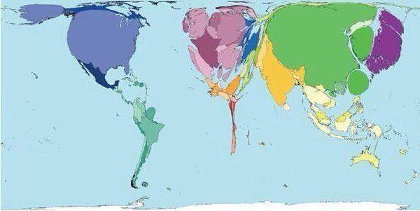 Pastrana En Twitter Mapa Del Mundo Distorsionado Según La Riqueza De Los Países Del Trópico De Cáncer Hacia El Sur Cas Mapas Del Mundo Mapa Del Mundo Mapas