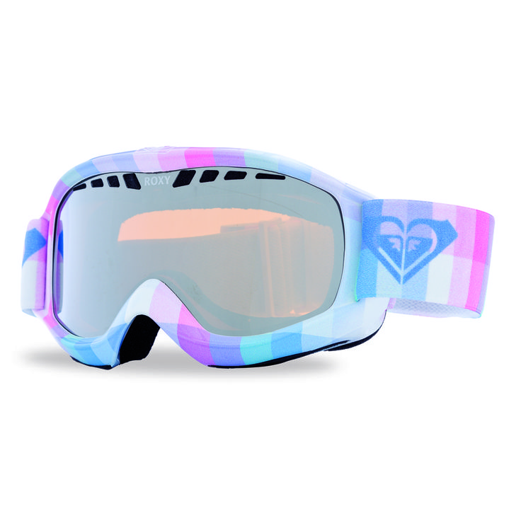 Roxy Broadway Art Series Snowboard Goggles - Plaid / Orange Chrome