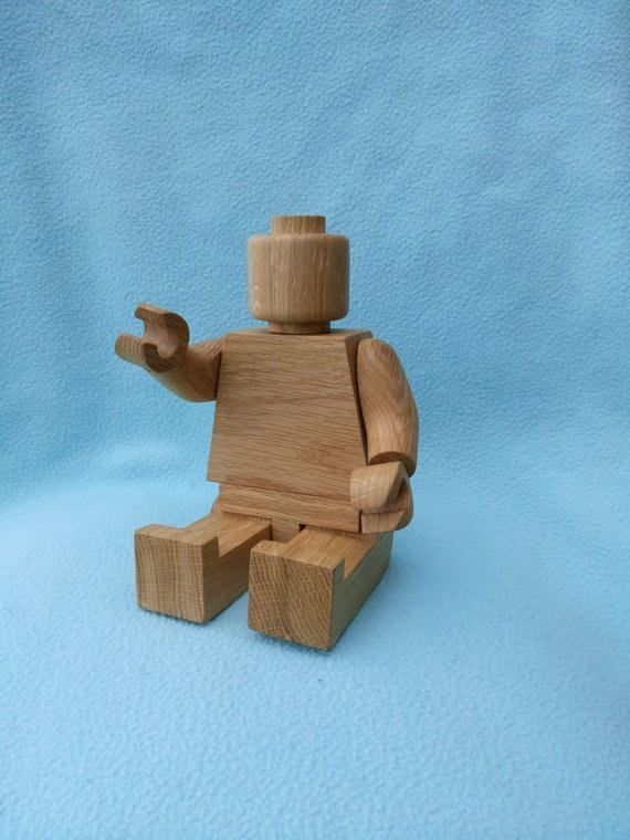 Wooden  man 25cm Oak. wooden toy. Christmas wooden toys. Wooden doll.  figure. Christmas gift. Montessori waldorf toys. by Allecowood on Etsy
