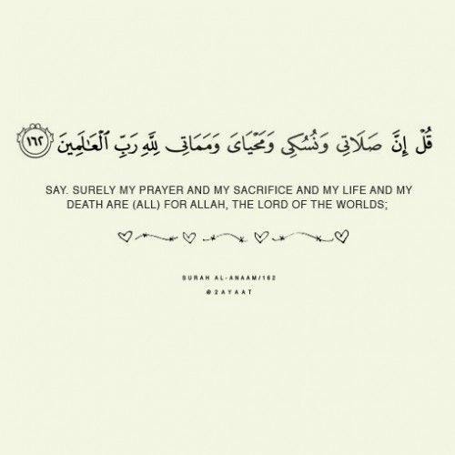 Quran 6:162 – Surat al-AnaamOriginally found on: the2ayaat