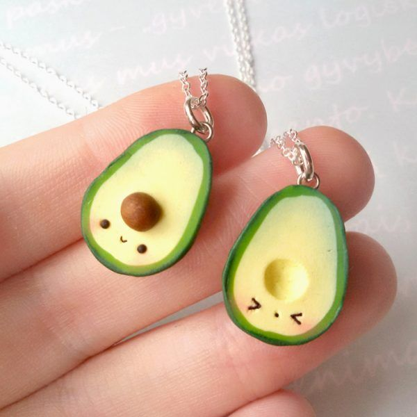 Avocado Kawaii - Clay Creations For Ever