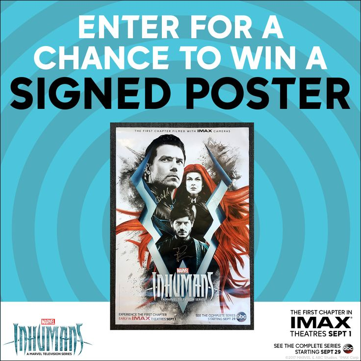 FOLLOW & REPIN for a chance to win IMAX Inhumans movie prize pack!