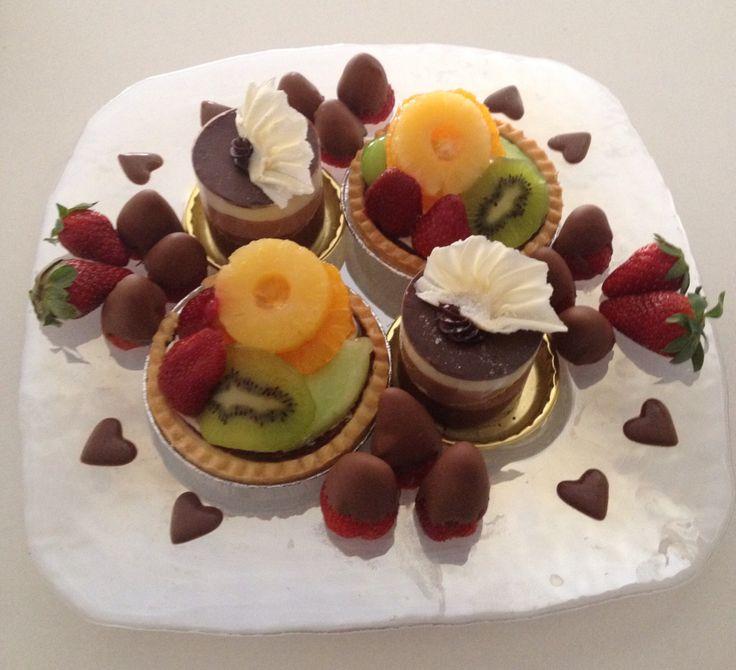Romantic night in | Dessert | Fruit Flan | Chocolate Strawberries | Chocolate Mousse