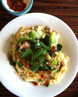 Asian Green Omelette
