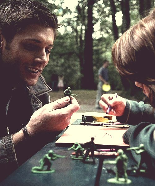 Dean Winchester. The way he is with kids just makes me want him so much more... :((