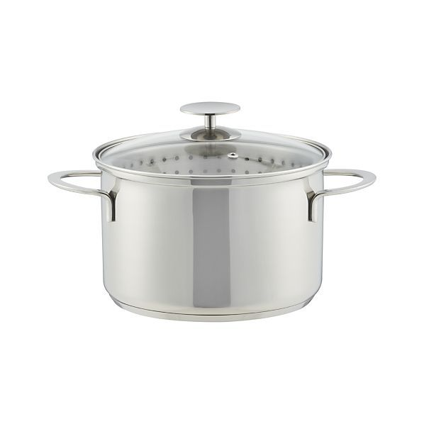 Crate and Barrel Stainless Cookware by Berndes 4 qt.  Vegetable Steamer | Crate and Barrel