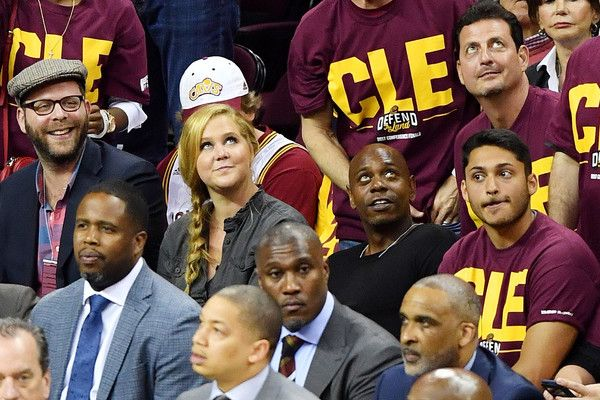 Dave Chappelle Photos Photos - Comedians Amy Schumer and Dave Chappelle attend Game Three of the 2017 NBA Eastern Conference Finals between the Cleveland Cavaliers and the Boston Celtics at Quicken Loans Arena on May 21, 2017 in Cleveland, Ohio. NOTE TO USER: User expressly acknowledges and agrees that, by downloading and or using this photograph, User is consenting to the terms and conditions of the Getty Images License Agreement. - Boston Celtics v Cleveland Cavaliers - Game Three