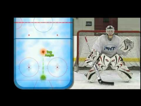 Angles and Positioning for Goalies This is an instructional video to help teach the concepts of positioning and angles to ice hockey goalies. In the video I use several excerpts from multiple sources, including Zach Sikich's terrific DVD series: ProHybrid Training.