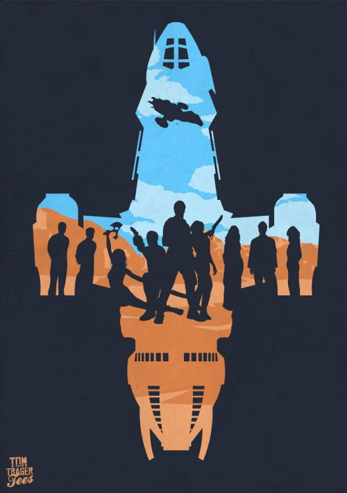 Negative Space Firefly Poster - Tom Trager