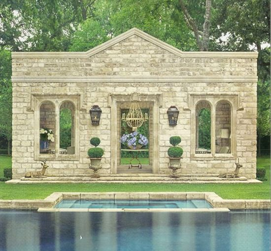 Is this even a pool house? What is going on here? I don't know, but I know I'm lovin' it.